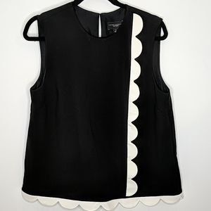 Victoria Beckham for Target Scalloped Tank Top L